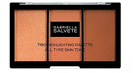 Düfte, Parfümerie und Kosmetik Highlighter-Palette - Gabriella Salvete Trio Highlighting Palette