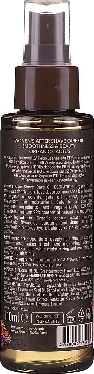 After Shave Pflegeöl für Frauen gegen Irritationen und Rötungen - Ecolatier Organic Cactus Women`s After Shave Care Oil — Bild N2