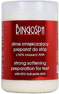 Starkweichmachende Zubereitung für Füße mit 50% Alpha-Fruchtsäuren - BingoSpa Strong Exfoliant for Feet with 50% AHA — Bild N1