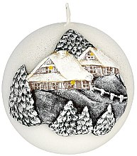 Düfte, Parfümerie und Kosmetik Dekorative Kerze Winter House - Artman Christmas Candle Winter House Ø10cm