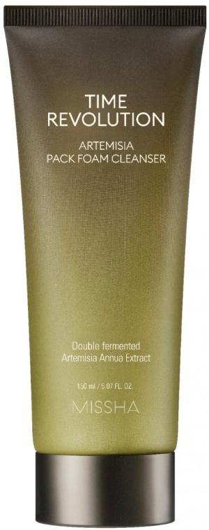 2in1 beruhigende Gesichtsmaske und Reinigungsschaum - Missha Time Revolution Artemisia Pack Foam Cleanser — Bild N1
