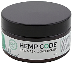 Düfte, Parfümerie und Kosmetik Revitalisierender Haarmaske-Conditioner mit Hanföl - Good Mood Hemp Code Hair Mask-Conditioner