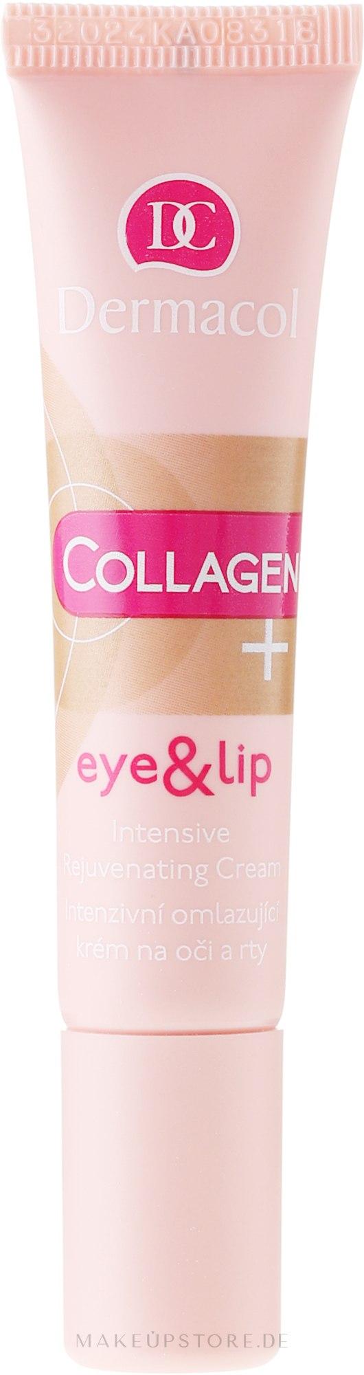 Intensiv verjüngende Augen- und Lippenkonturcreme - Dermacol Collagen+ Eye & Lip Cream — Bild 15 ml