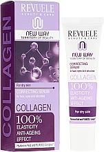 Düfte, Parfümerie und Kosmetik Anti-Aging Gesichts- und Augenlidserum für trockene Haut mit Kollagen - Revuele Collagen Face Anti-Wrinkle Serum Hydrate Firm Dry Skin