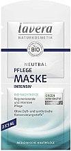 Düfte, Parfümerie und Kosmetik Intensiv pflegende und regenerierende Gesichtsmaske mit Bio Nachtkerze - Lavera Neutral Nourishing Intensive Mask