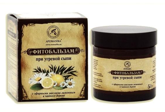 Gesichtsbalsam gegen Akne mit Zitronen- und Teebaumöl - Aromatika — Bild N1