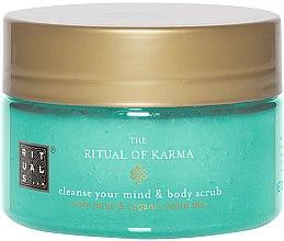 Düfte, Parfümerie und Kosmetik Pflegendes Körperpeeling mit Duft von heiligem Lotus und weißem Tee - Rituals The Ritual of Karma Body Scrub