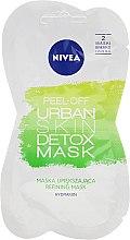 Detox-Gesichtsmaske mit grünem Tee und Aktivkohle - Nivea Urban Skin Peel Off Detox Mask — Bild N1