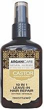 Düfte, Parfümerie und Kosmetik Regenerierende 10in1 Haarpflege mit Argan- und Rizinusöl ohne Ausspülen - Argaincare Castor Oil 10-in-1 Hair Repair