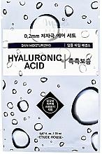 Düfte, Parfümerie und Kosmetik Feuchtigkeitsspendende Gesichtsmaske mit Hyaluronsäure - Etude House Therapy Air Mask Hyaluronic Acid