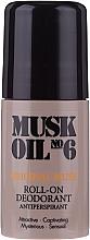 Düfte, Parfümerie und Kosmetik Deo Roll-on Antitranspirant - Gosh Musk Oil No.6 Roll-On Deodorant