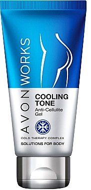 Anti-Cellulite Körpergel mit kühlendem Effekt - Avon Works Anti-Cellulite Cooling Gel — Bild N1