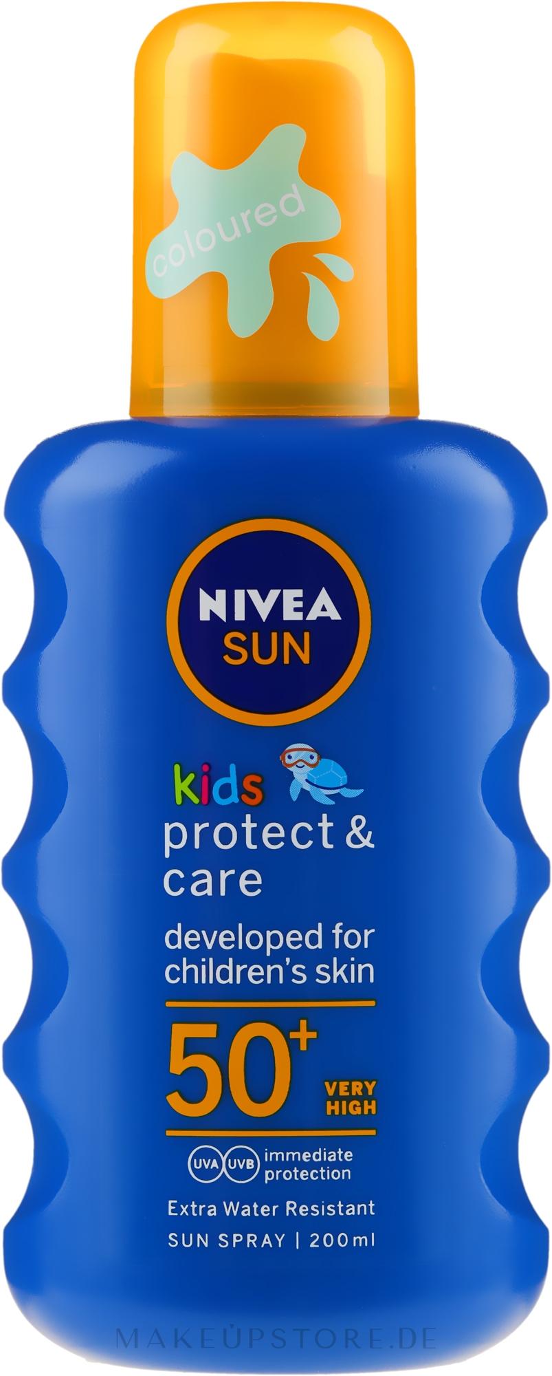 Feuchtigkeitsspendendes Sonnenschutzspray für Kinder SPF 50+ - Nivea Sun Kids Moisturising Spray SPF 50+ — Bild 200 ml