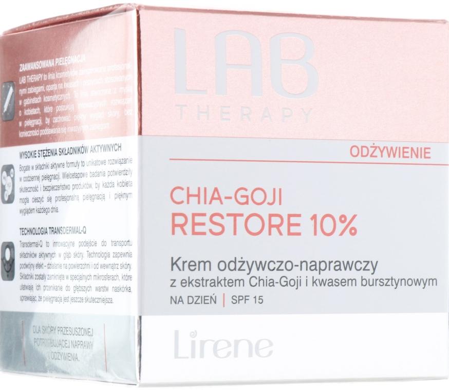Pflegende und regenerierende Tagescreme mit Chia-Goji-Extrakt und Bernsteinsäure SPF 15 - Lirene Lab Therapy Nourishment Chia-Goji Skin 10% — Bild N1
