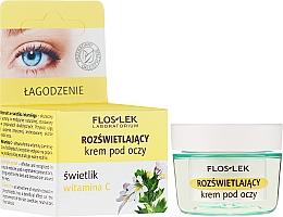 Düfte, Parfümerie und Kosmetik Aufhellende Augencreme mit Augentrost und Vitamin C - Floslek