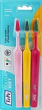 Düfte, Parfümerie und Kosmetik Zahnbürste weich Colour rosa, gelb, himbeerrot - TePe Colour Soft
