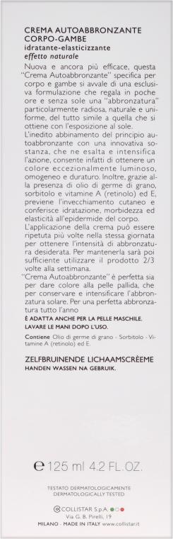 Selbsbräunungscreme für den Körper - Collistar Body-Legs Self-Tanning — Bild N3