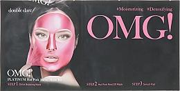 Düfte, Parfümerie und Kosmetik Ausgleichendes Gesichtspflegeset für strahlende Haut in 3 Schritten - Double Dare OMG! Platinum Hot Pink Facial Mask Kit