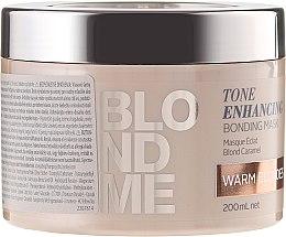 Düfte, Parfümerie und Kosmetik Aufbauende Intensivkur für warme Blondtöne - Schwarzkopf Professional Blondme Tone Enhancing Bonding Mask Warm Blondes