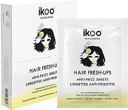 Düfte, Parfümerie und Kosmetik Anti-Frizz Haartücher - Ikoo Infusions Hair Fresh-Ups Anti-Frizz Sheets
