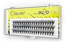 Düfte, Parfümerie und Kosmetik Künstliche Wimpernbüschel für doppeltes Volumen 10 mm - Clavier DU2O Double Volume
