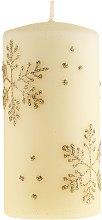 Düfte, Parfümerie und Kosmetik Dekorative Kerze Snowflake - Artman Christmas Candle Snowflake Ø7xH14cm