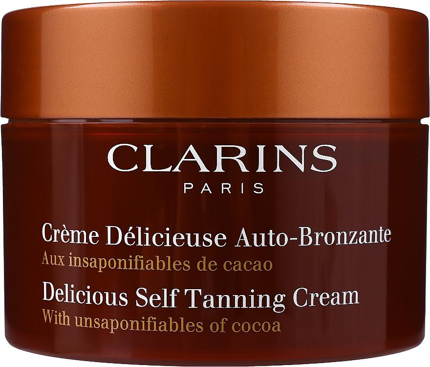 Autobronzant für Gesicht und Körper mit Kakaoduft - Clarins Delicious Self Tanning Cream