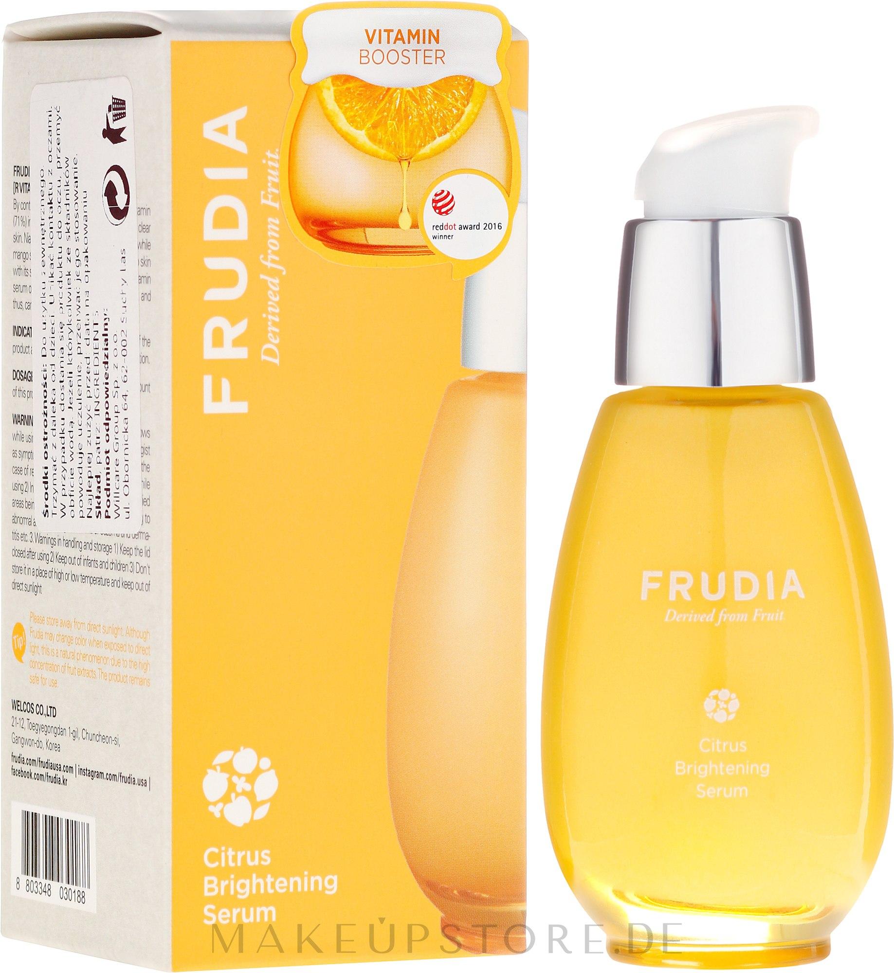 Aufhellendes Gesichtsserum mit Tangerine-Extrakt - Frudia Brightening Citrus Serum — Bild 50 ml