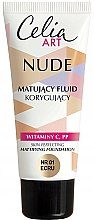 Düfte, Parfümerie und Kosmetik Mattierende Foundation mit Vitaminen C und PP - Celia Nude Mattifying Foundation