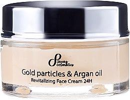 Revitalisierende Gesichtscreme mit Goldparikeln und Arganöl - Hristina Cosmetics Sayaz Gold Particles And Argan Oil Revitalizing Face Cream 24H — Bild N2