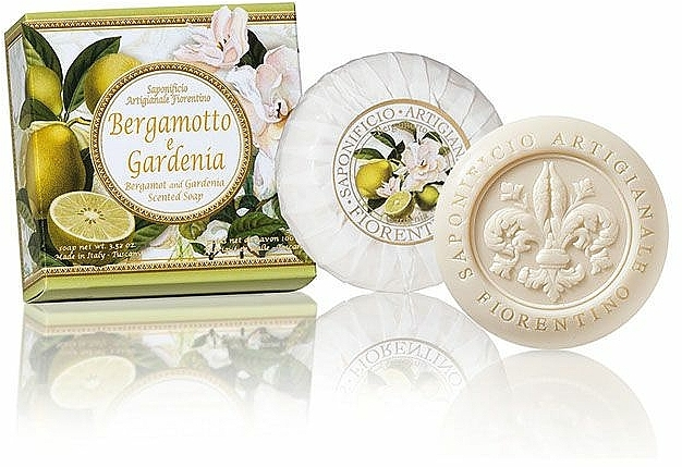 Naturseife Bergamotte und Gardenie - Saponificio Artigianale Fiorentino Capri Bergamot & Gardenia Soap — Bild N2