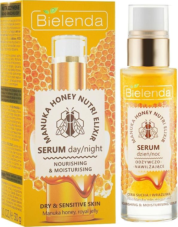 Pflegendes Gesichtsserum für die Tages- und Nachtpflege mit Manuka Honig und Gelée Royale - Bielenda Manuka Honey Nutri Elixir Serum