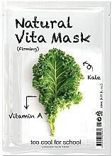 Düfte, Parfümerie und Kosmetik Straffende Tuchmaske mit Vitamin A - Too Cool For School Natural Vita Mask Firming