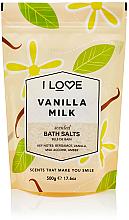 Düfte, Parfümerie und Kosmetik Badesalz mit Vanille und Milch - I Love... Vanilla Milk Bath Salt
