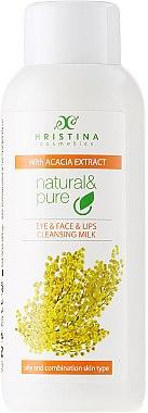 Gesichtsreinigungsmilch mit Akazienextrakt für fettige und Mischhaut - Hristina Cosmetics Cleansing Milk With Accacia Extract — Bild N1