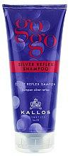 Düfte, Parfümerie und Kosmetik Farbauffrischendes Shampoo für blondes und graues Haar - Kallos Cosmetics Gogo Silver Reflex Shampoo