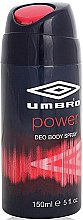 Düfte, Parfümerie und Kosmetik Umbro Power - Deospray