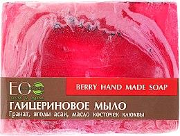 Düfte, Parfümerie und Kosmetik Glycerinseife mit Acai Beeren-Extrakt und Preiselbeersamenöl - ECO Laboratorie Berry Hand Made Soap