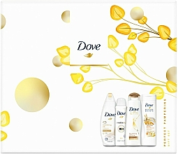 Düfte, Parfümerie und Kosmetik Körperpflegeset - Dove Perfect Pampering Gift Set (Duschgel 250ml + Körperlotion 250ml + Shampoo 250ml + Deospray 150ml)