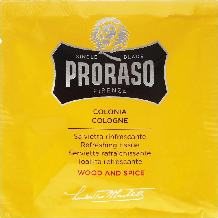 Erfrischende Feuchttücher für Gesicht und Bart mit Gewürze-und Holzduft - Proraso Wood & Spice Refreshing Tissues — Bild N2