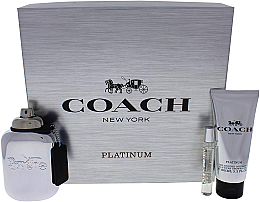Düfte, Parfümerie und Kosmetik Coach Platinum - Duftset (Eau de Parfum 100ml + Eau de Parfum 7.5ml + Duschgel 100ml)
