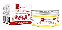 Düfte, Parfümerie und Kosmetik Glättendes Fuß- und Fersenpeeling mit Moosbeere - GoCranberry Cranberry Smoothing Foot & Heel Scrub