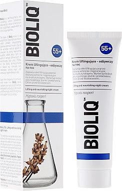 Pflegende Nachtcreme mit Lifting-Effekt - Bioliq 55+ Lifting And Nourishing Night Cream — Bild N1