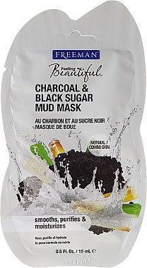 Reinigende Gesichtsschlammmaske mit Aktivkohle und schwarzem Zucker - Freeman Feeling Beautiful Charcoal & Black Sugar Mud Mask (Mini)  — Bild N3