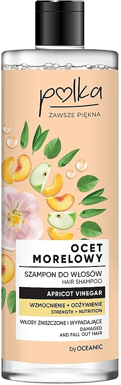 Stärkendes und pflegendes Shampoo mit Aprikosenessig für stapaziertes und zu Haarausfall neigendes Haar - Polka Apricot Vinegar Shampoo