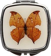 Düfte, Parfümerie und Kosmetik Kosmetischer Taschenspiegel 85437 Schmetterling hellbraun - Top Choice