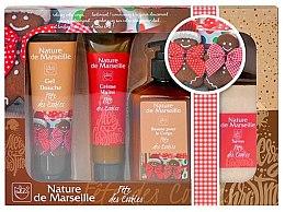Düfte, Parfümerie und Kosmetik Körperpflegeset - Nature de Marseille (Duschgel 100ml + Handcreme 60ml + Körperbalsam 150ml + Seife 90g)