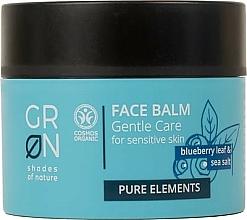 Düfte, Parfümerie und Kosmetik Gesichtsbalsam für empfindliche Haut mit Blaubeere und Meersalz - GRN Pure Elements Blueberry & Sea Salt Face Balm