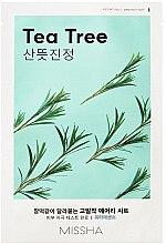 Düfte, Parfümerie und Kosmetik Gesichtsmaske mit Teebaum-Extrakt - Missha Airy Fit Tea Tree Sheet Mask