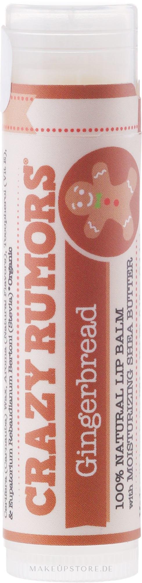 Lippenbalsam - Crazy Rumors Gingerbread Lip Balm — Bild 4.4 ml